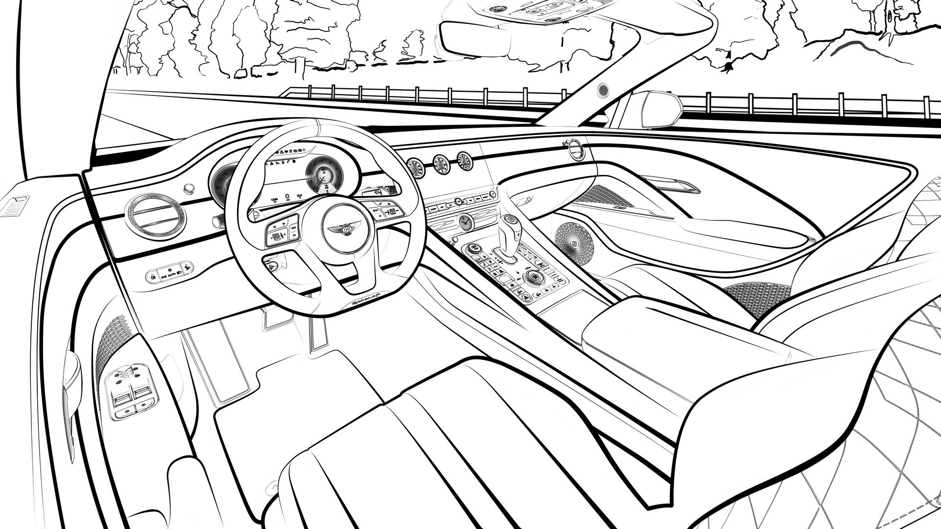 Line-Drawing-Bacalar-Interior