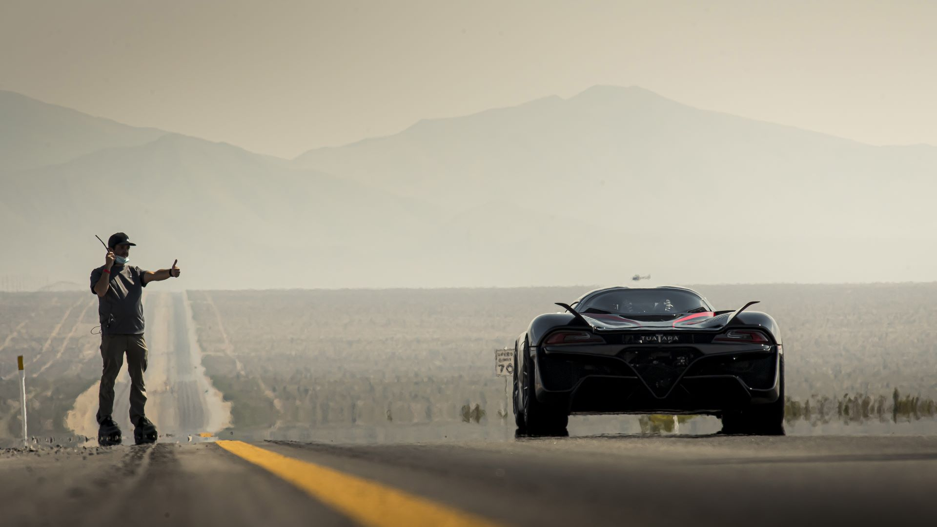 SSC Tuatara Production Car Speed Record, Pahrump NV. Oct 10, 2020  Photo: James Lipman