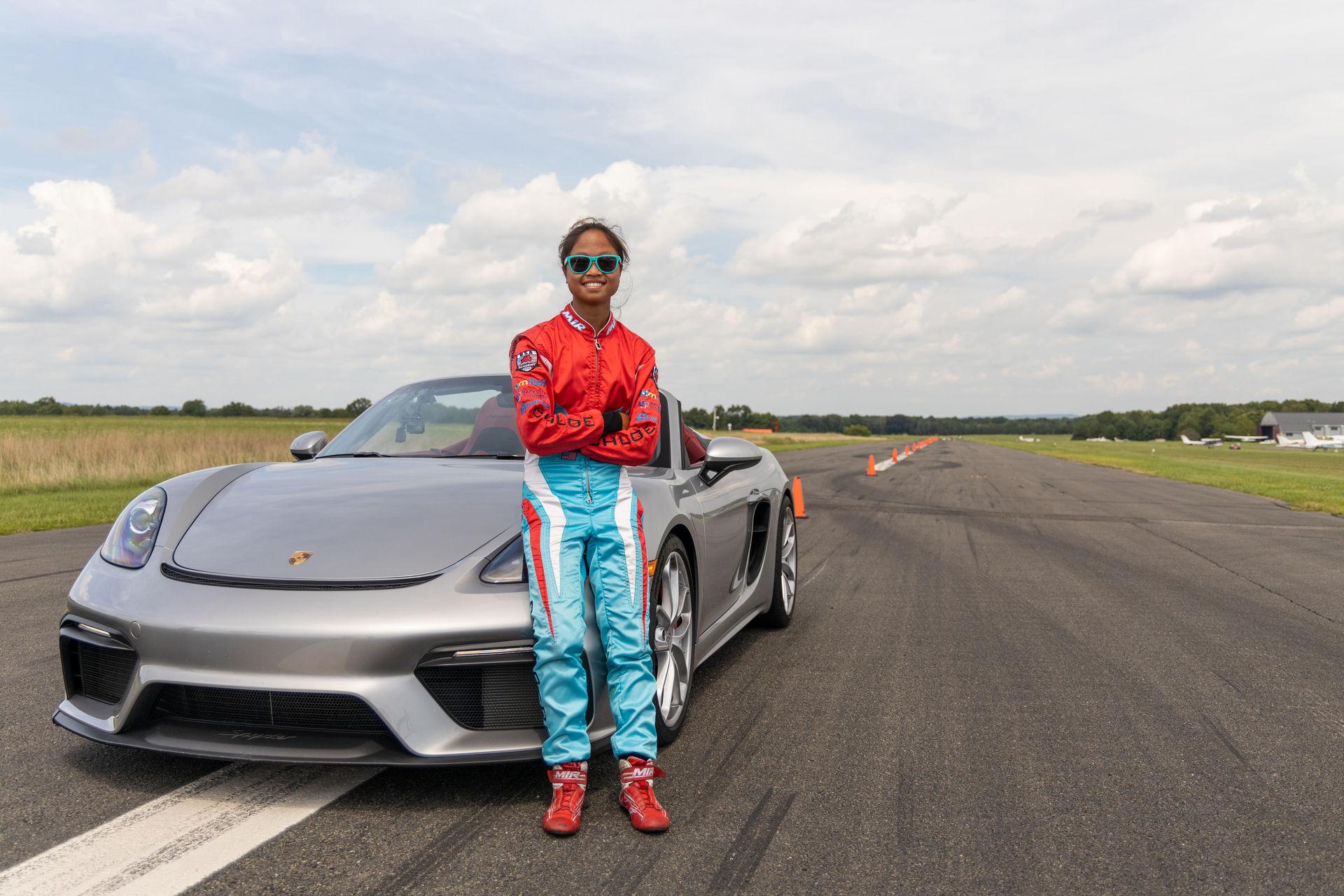 Teen-Driver-Slalom-Record-Porsche-718-Spyder-4