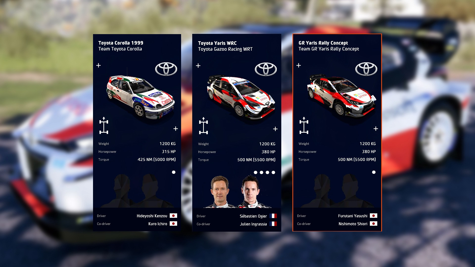wrc9-3-toyota-car-list