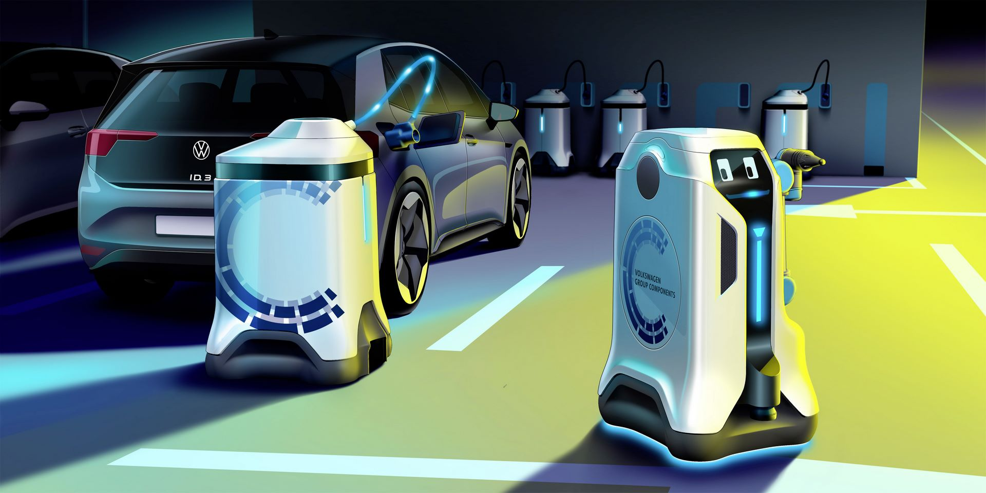 Revolution in the underground car park – Volkswagen lets its charging robots loose