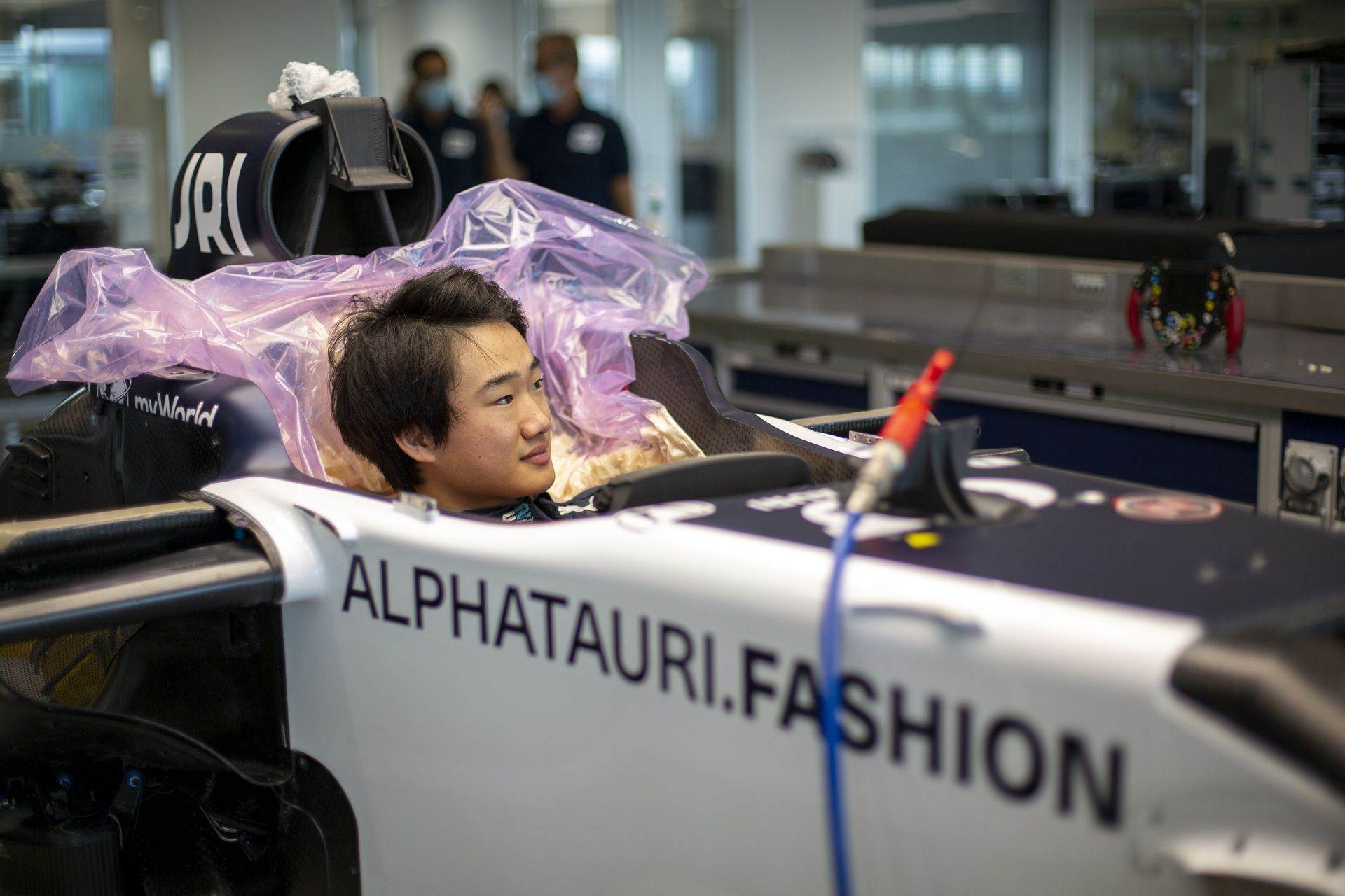FAENZA, ITALY - OCTOBER 14: Yuki Tsunoda of Japan completes his seat fit at the Scuderia AlphaTauri factory on October 14, 2020 in Faenza, Italy. (Photo by Josh Kruse/Scuderia AlphaTauri) // Josh Kruse / Scuderia AlphaTauri / Red Bull Content Pool // SI202010140211 // Usage for editorial use only //