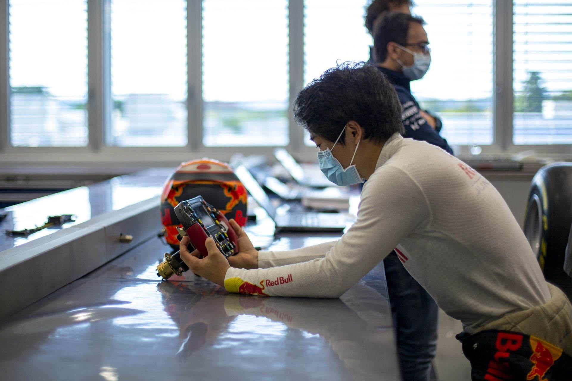 FAENZA, ITALY - OCTOBER 14: Yuki Tsunoda of Japan completes his seat fit at the Scuderia AlphaTauri factory on October 14, 2020 in Faenza, Italy. (Photo by Josh Kruse/Scuderia AlphaTauri) // Josh Kruse / Scuderia AlphaTauri / Red Bull Content Pool // SI202010140213 // Usage for editorial use only //