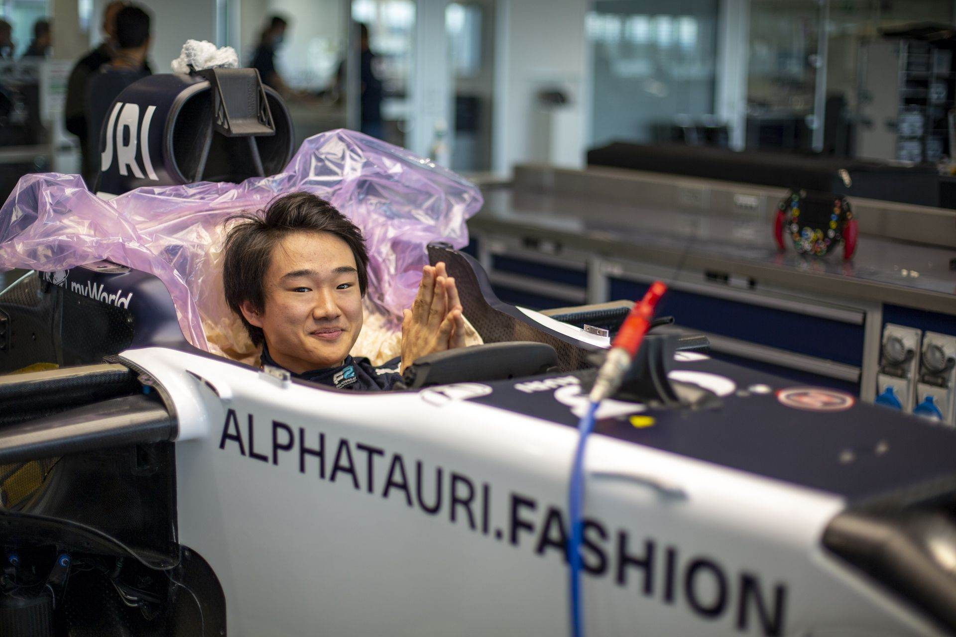 FAENZA, ITALY - OCTOBER 14: Yuki Tsunoda of Japan completes his seat fit at the Scuderia AlphaTauri factory on October 14, 2020 in Faenza, Italy. (Photo by Josh Kruse/Scuderia AlphaTauri) // Josh Kruse / Scuderia AlphaTauri / Red Bull Content Pool // SI202010140220 // Usage for editorial use only //