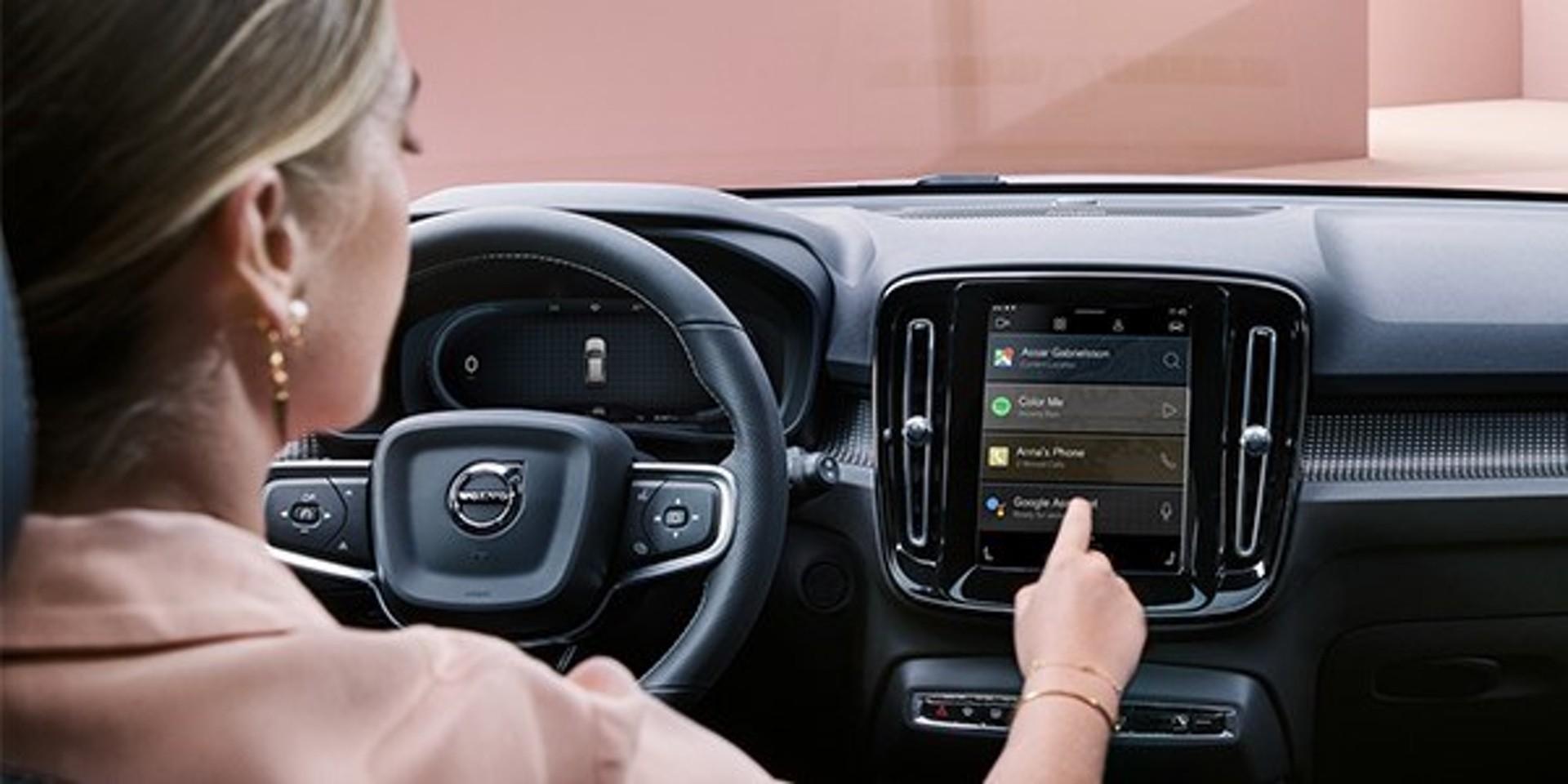Volvo XC40 Rehcharge P8 Google Infotainment System