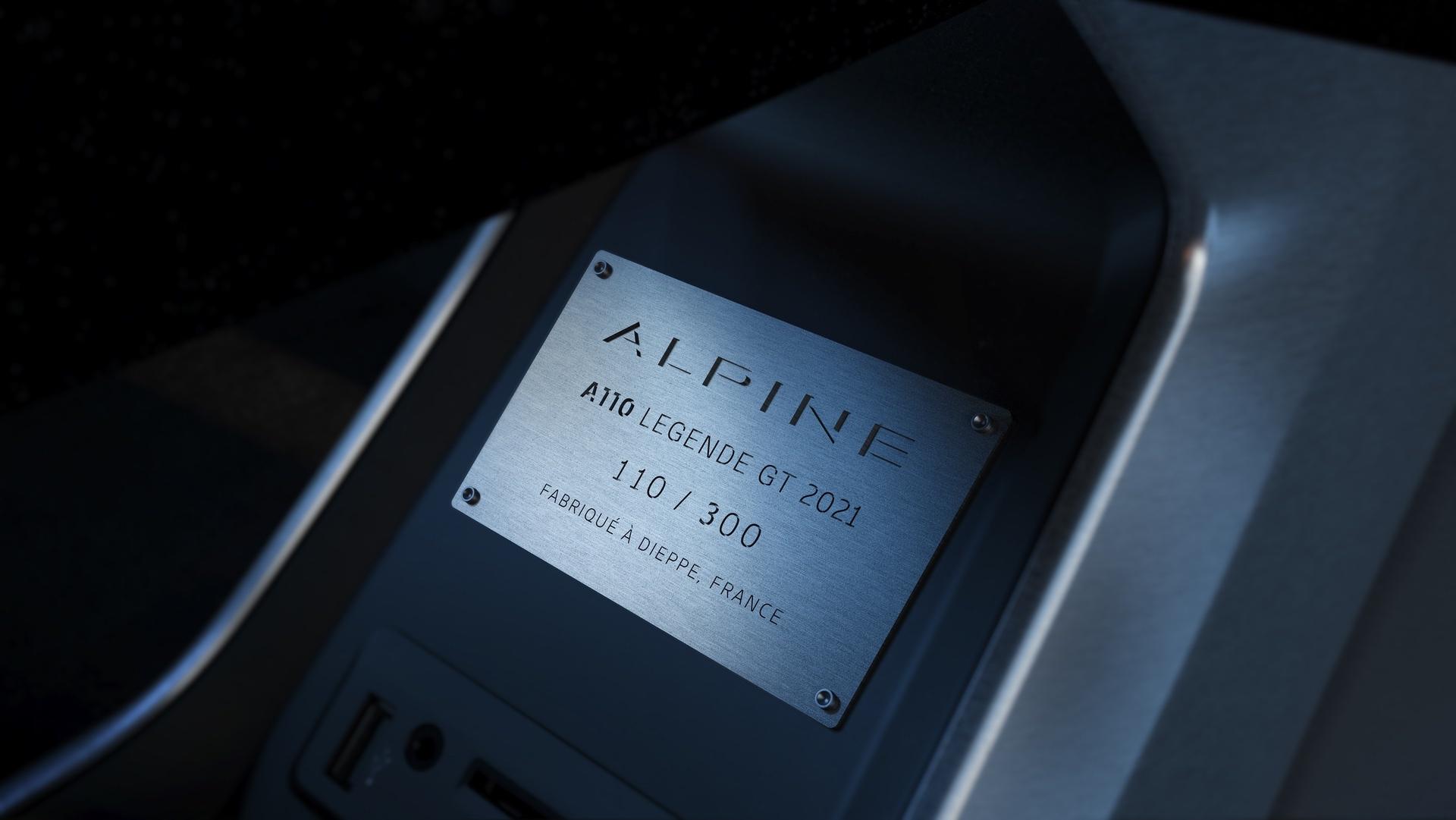 ALPINE A110 LEGENDE GT SERIE LIMITEE 2021