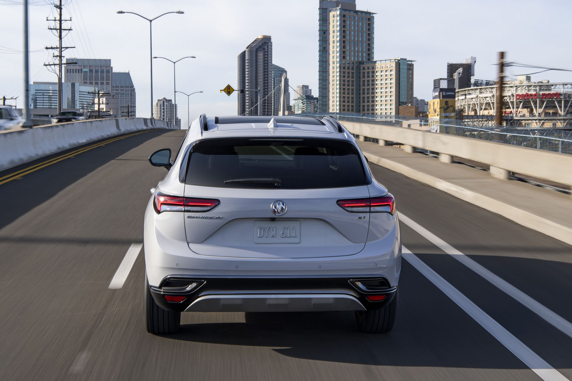 The 2021 Envision has a lower, wider stance with more athletic proportions to appeal to buyers who like the look of a car but want the functionality of an SUV.