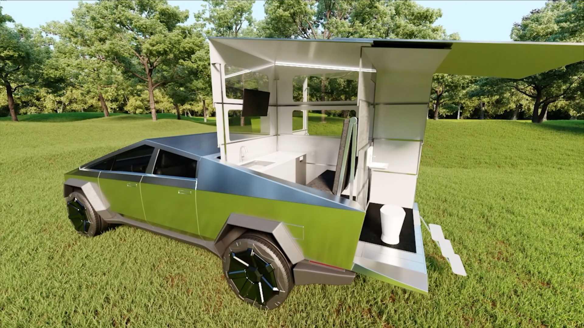 CyberLandr-Camper-For-Tesla-Cybertruck-7