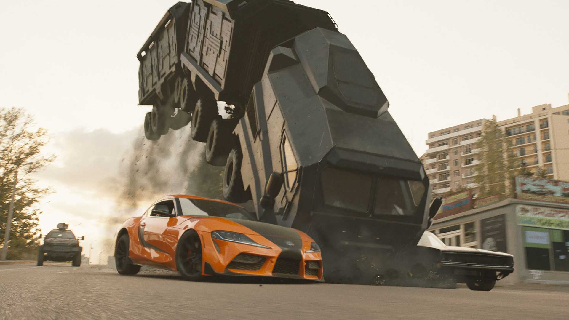 left-to-right-villains-armory-truck-han-mia-s-2020-toyota-supra-villains-the-armadillo-dom-s-1968-mid-engine-charger