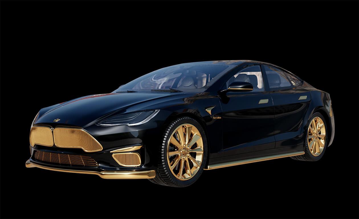 Gold-Tesla-Model-S-Plaid-Caviar-Model-Excellence-24K-1