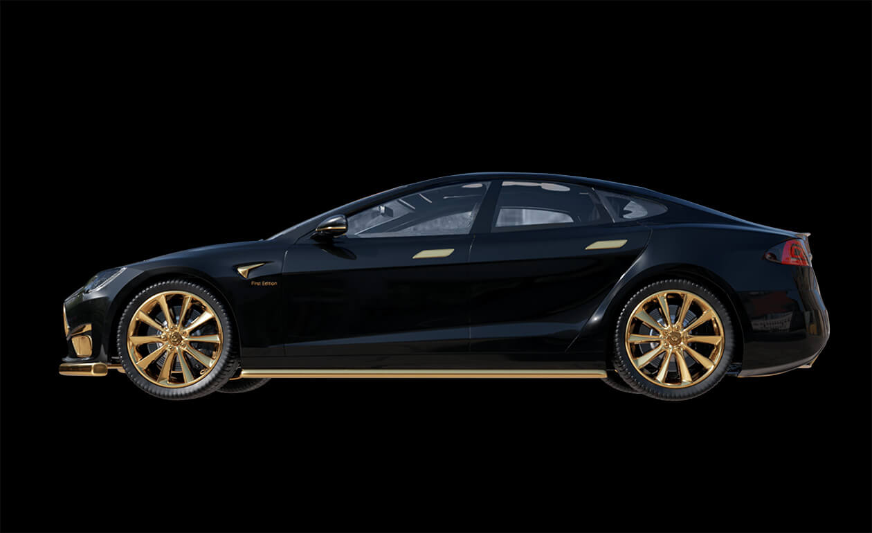 Gold-Tesla-Model-S-Plaid-Caviar-Model-Excellence-24K-7
