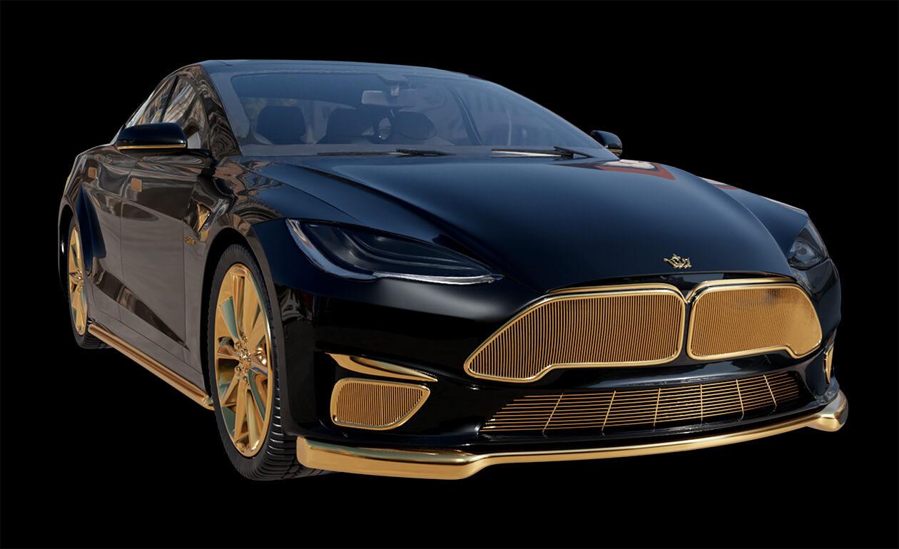 Gold-Tesla-Model-S-Plaid-Caviar-Model-Excellence-24K-8