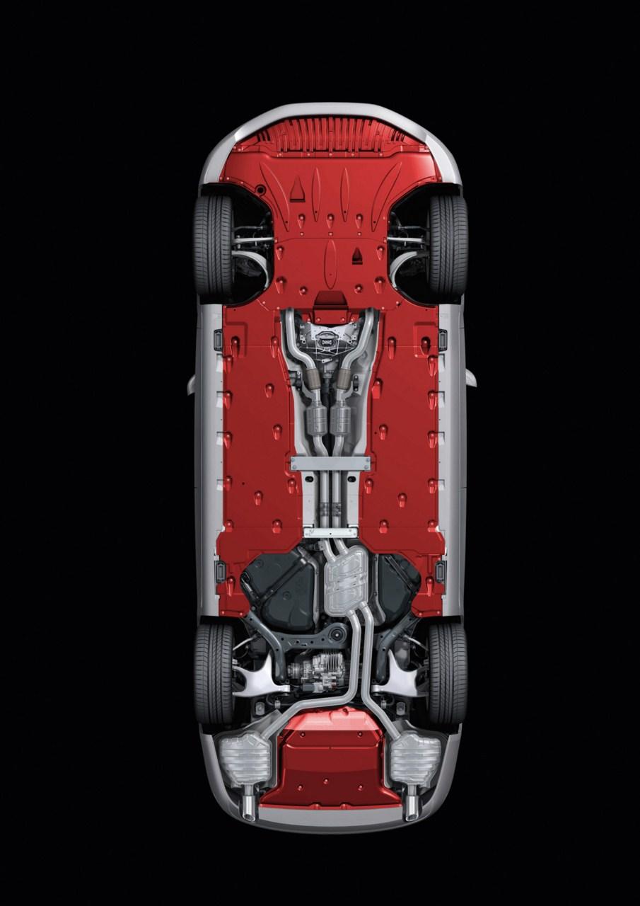 全新奥迪d4-a8 空间铝车身结构图