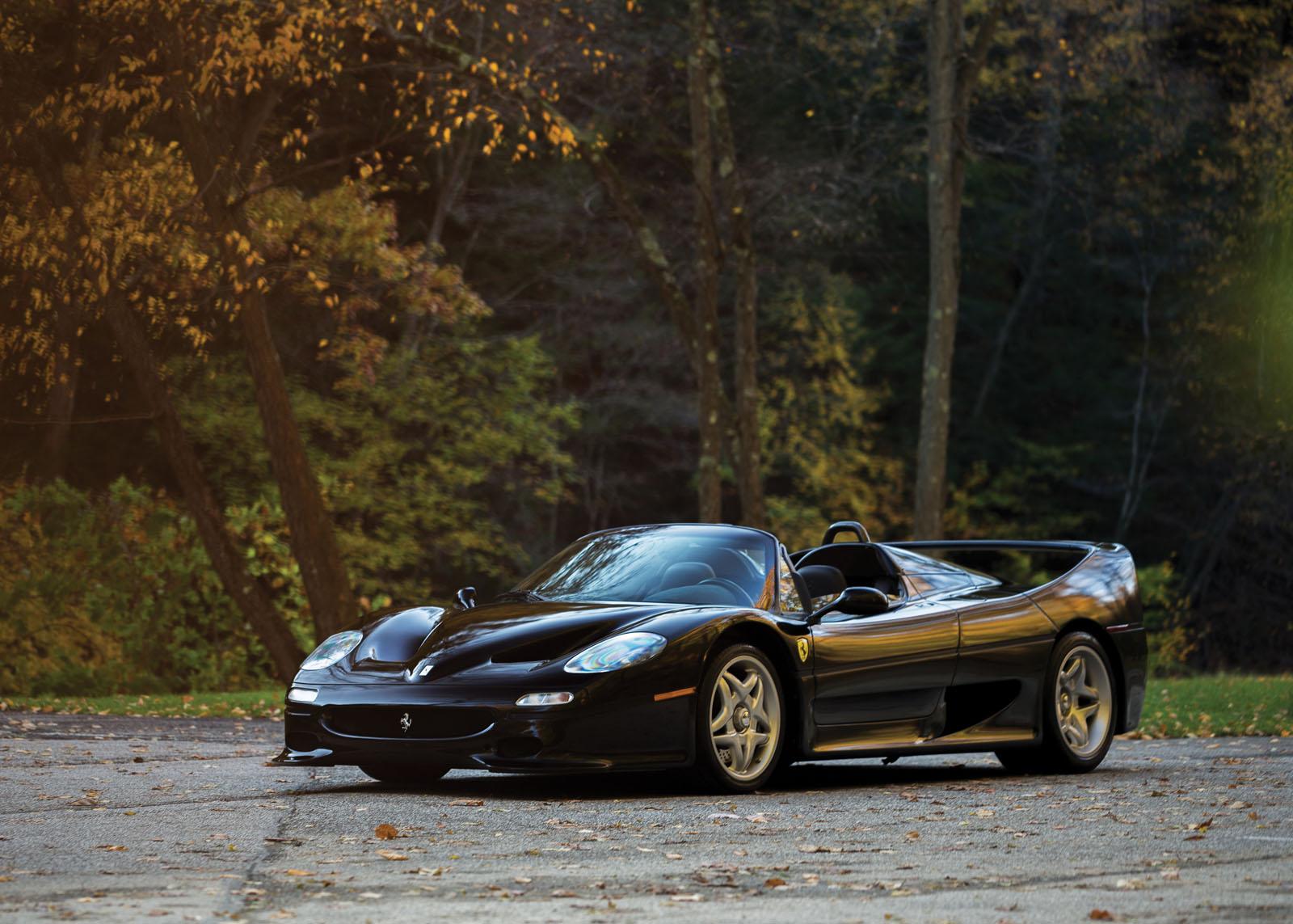 Black Ferrari F50 in auction (1)