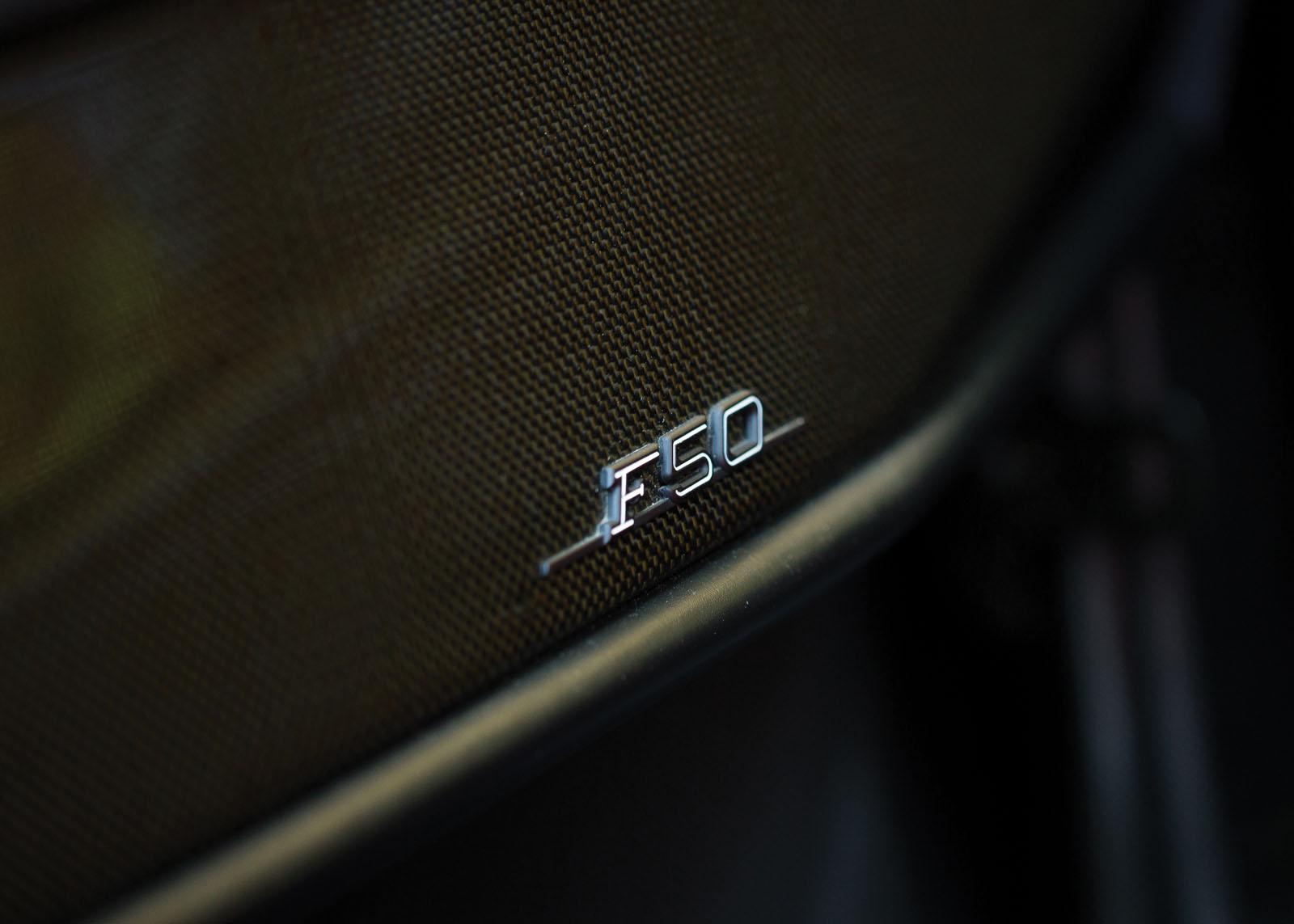 Black Ferrari F50 in auction (24)