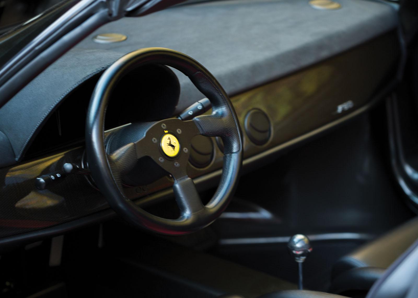 Black Ferrari F50 in auction (28)