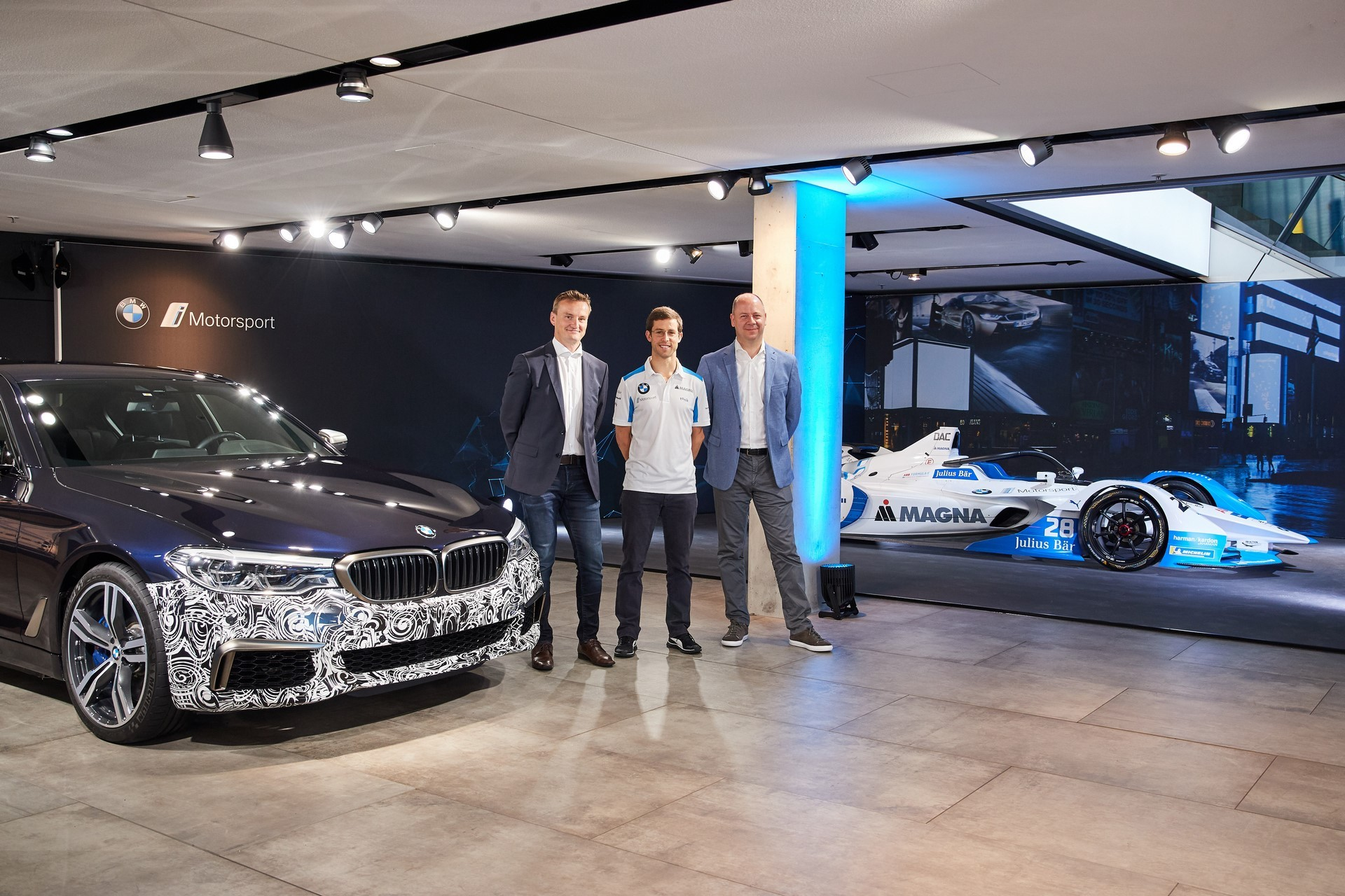 Content Hub Electrification  Alexander Sims BMW Works Driver   Rudolf Dittrich General Manager Vehicle Development BMW Motorsport   Andreas Buchner Head of Electric High Voltage Powertrain Machines