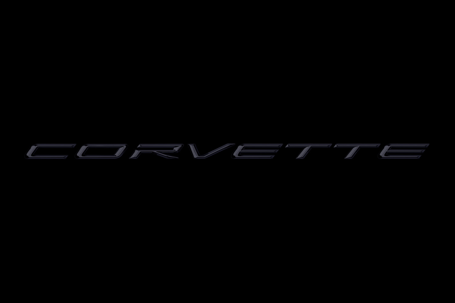 2020 Corvette Signature in Carbon Script on Black