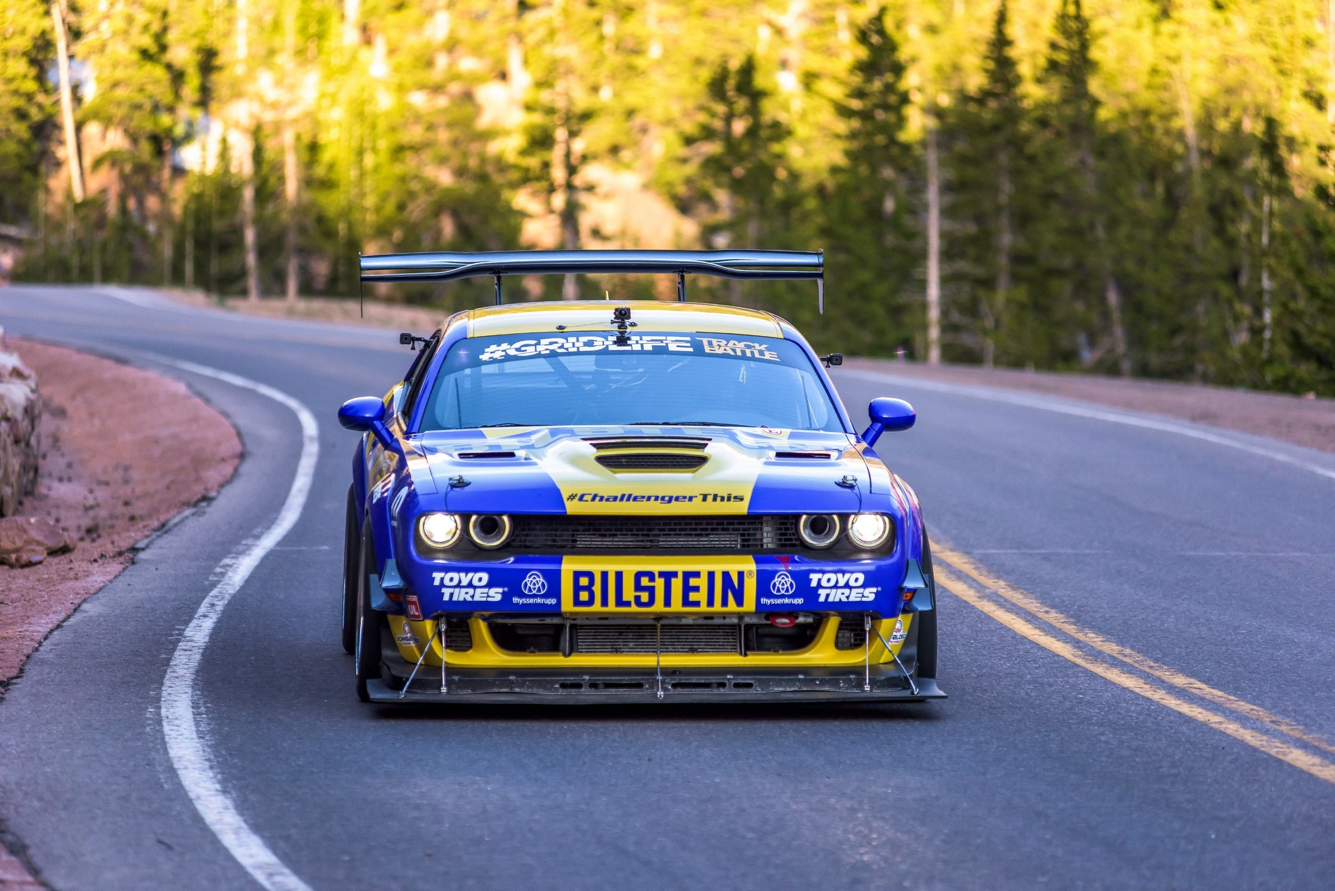 """Race-prepped Dodge Challenger SRT Hellcat Redeye will compete in the Time Attack 1 class in the Pikes Peak International Hill Climb on June 30, 2019"""