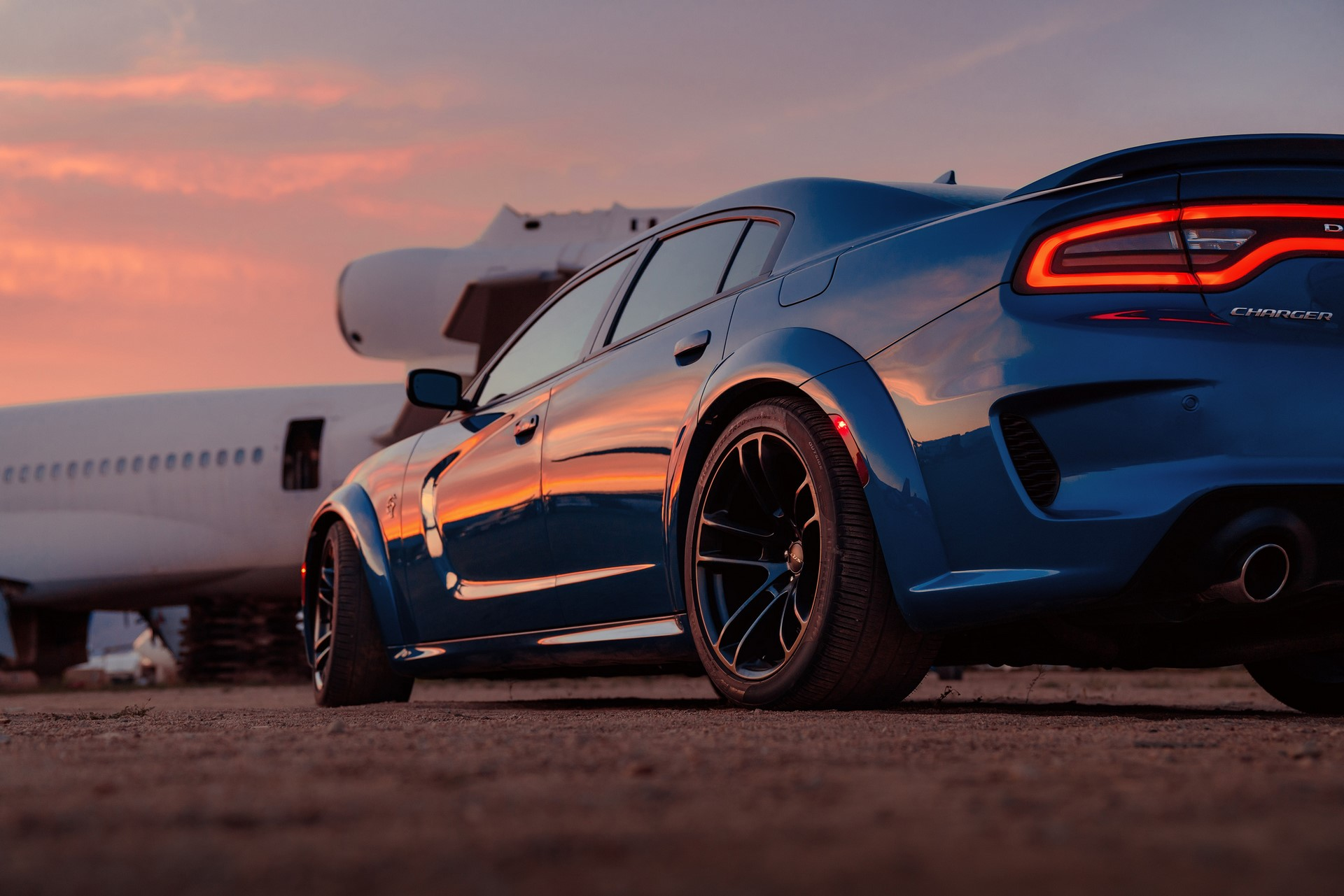 New integrated fender flares add 3.5-inches of width to make room for the wider 20 x 11-inch wheels on the 2020 Dodge Charger SRT Hellcat Widebody