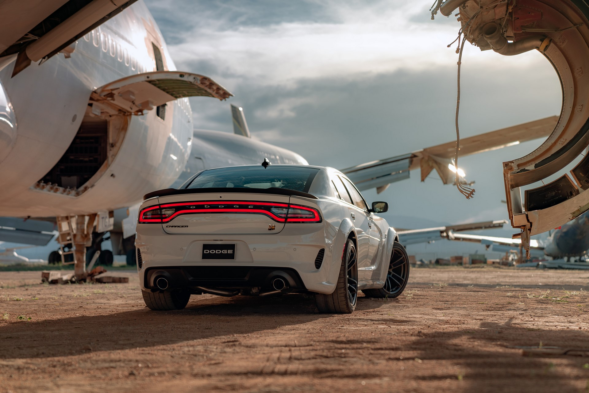 The 2020 Dodge Charger Scat Pack Widebody features a best-in-class, naturally aspirated 485-horsepower from the proven 392 cubic inch HEMI® V-8 engine