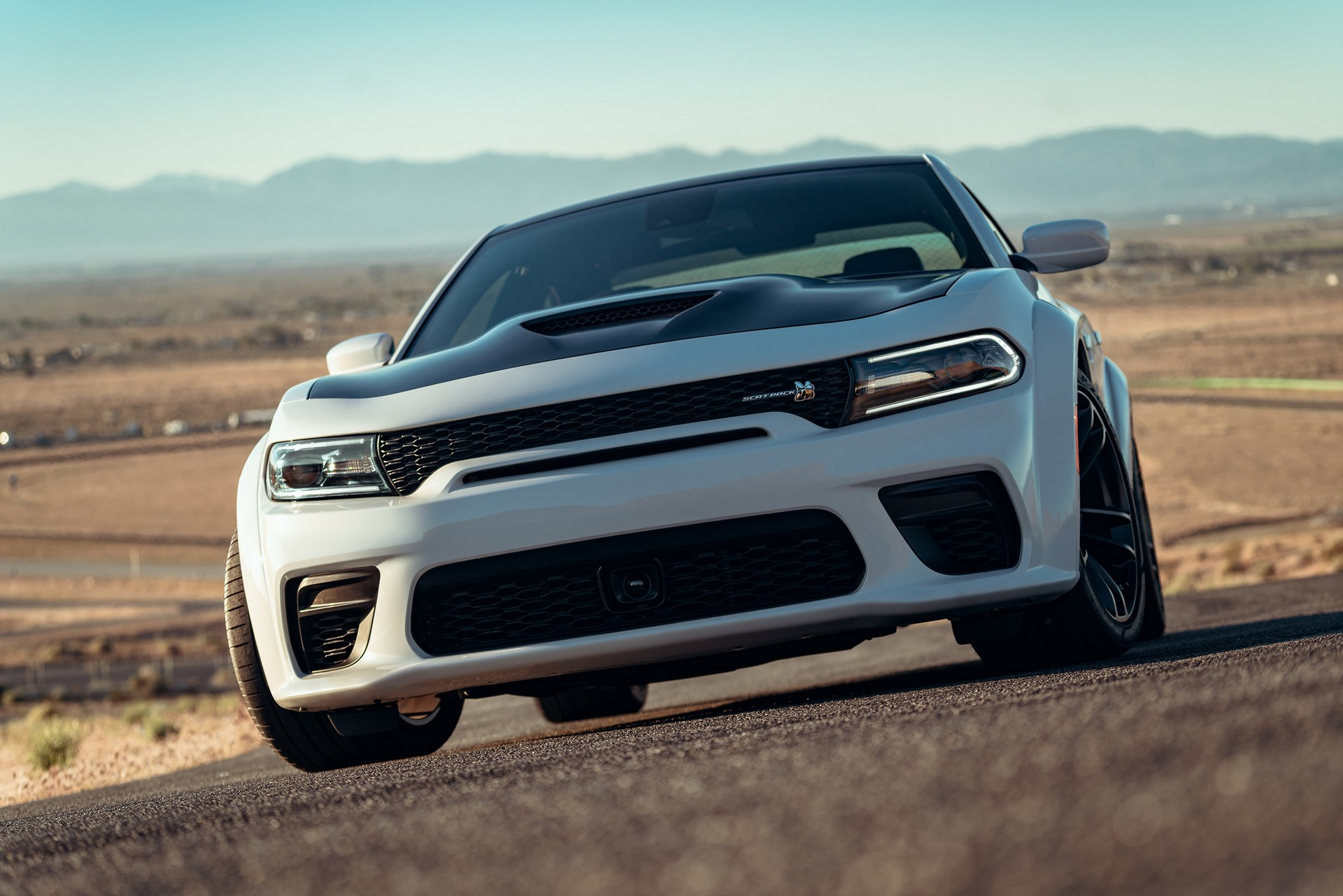 Newly designed front fascia on the 2020 Dodge Charger Scat Pack Widebody includes a new mail slot grille opening, providing the most direct route for cool air to travel into the radiator, to maintain ideal operating temperature even in the hottest conditions