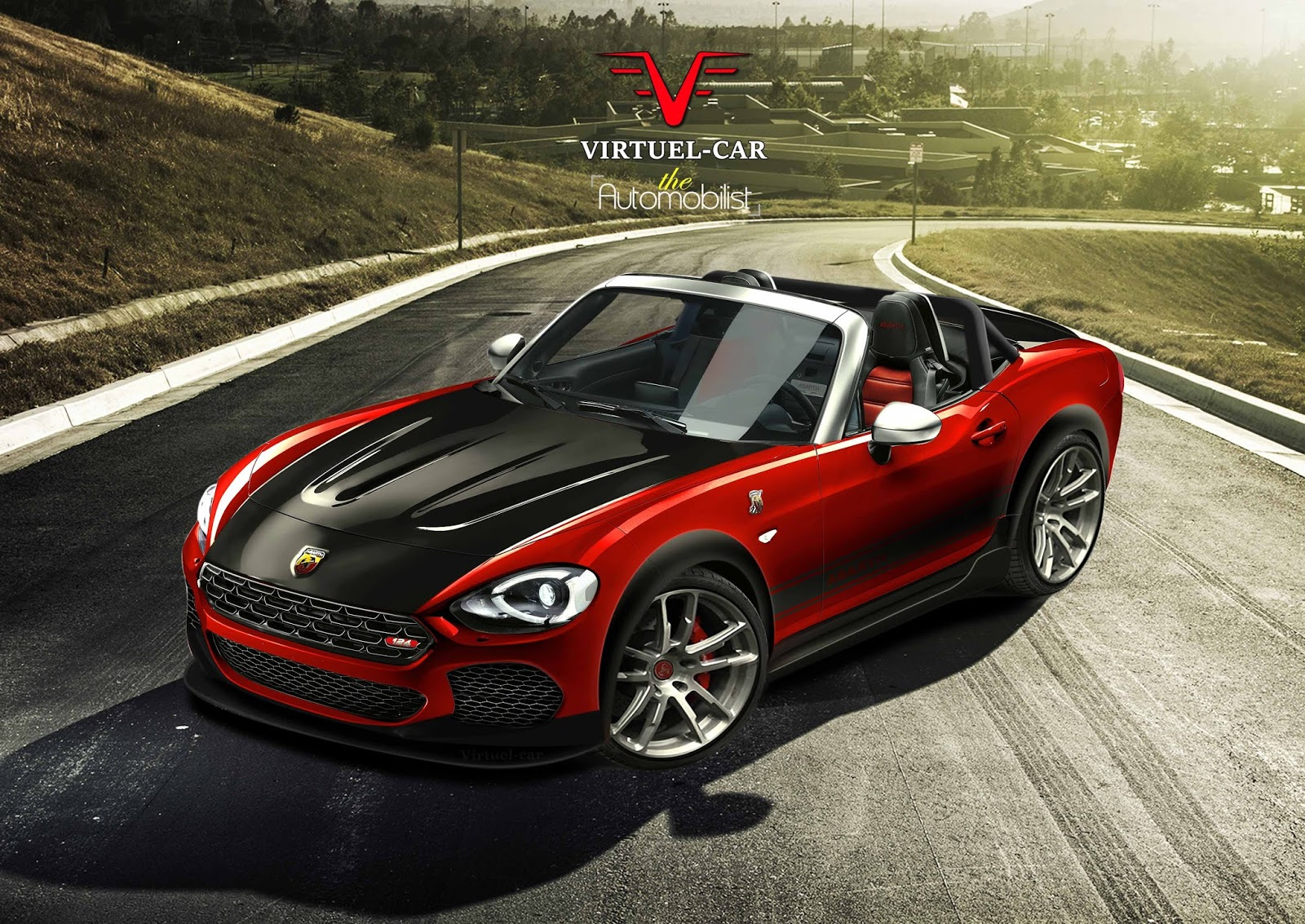 fiat 124 spider abarth renault fluence renderings. Black Bedroom Furniture Sets. Home Design Ideas