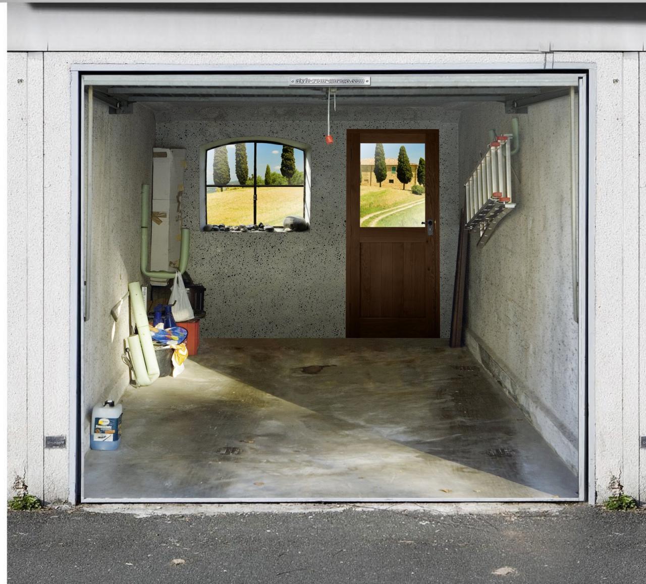 Картинки на гараже своими руками