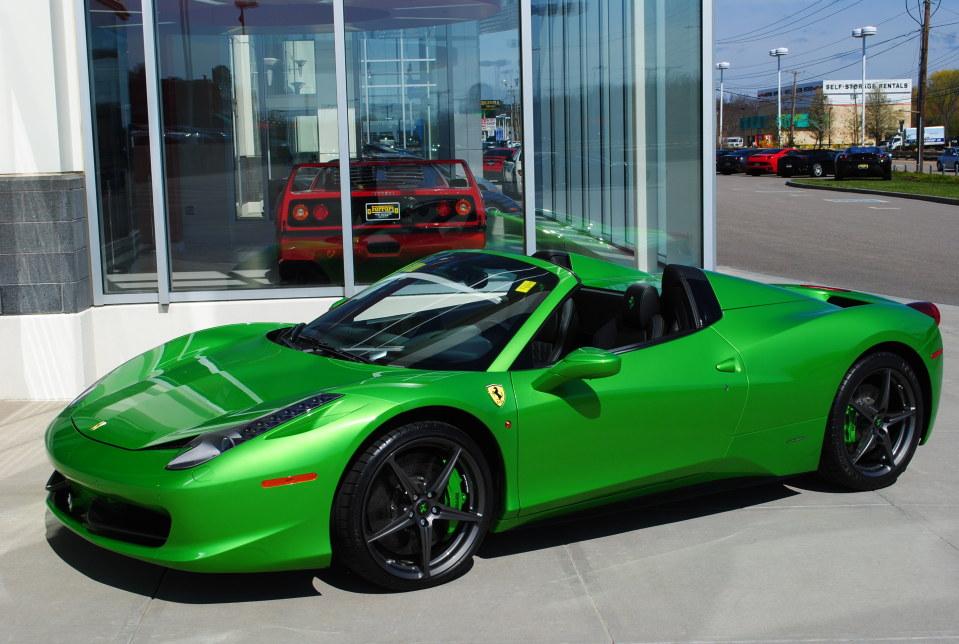 Image Gallery Green Ferrari 458