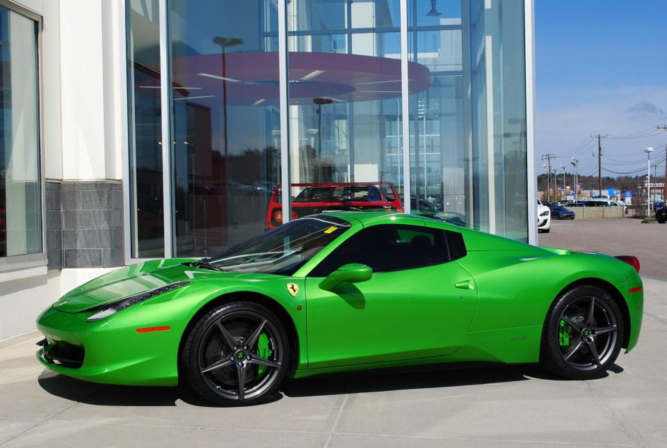 green ferrari 458 sp - Ferrari 458 Spider Green