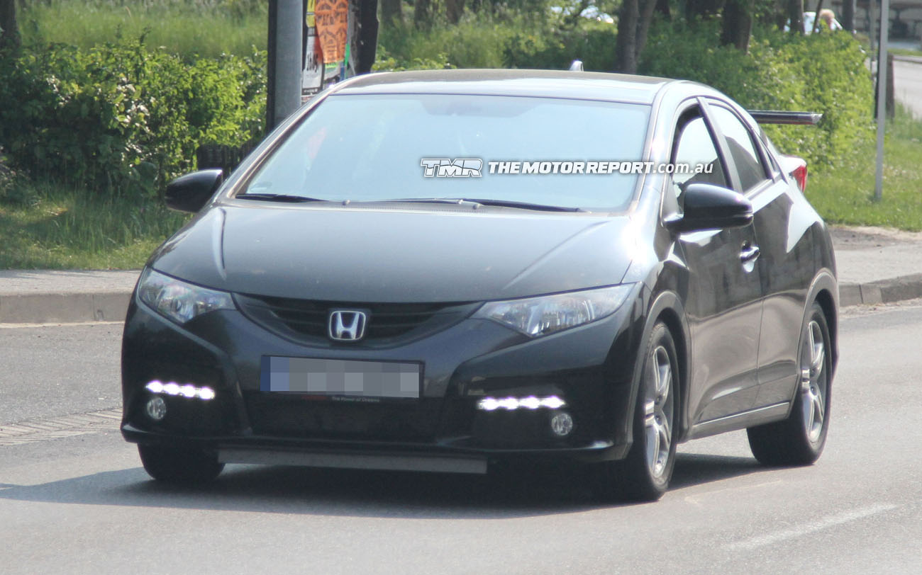 spy photos honda civic type r n rburgring. Black Bedroom Furniture Sets. Home Design Ideas