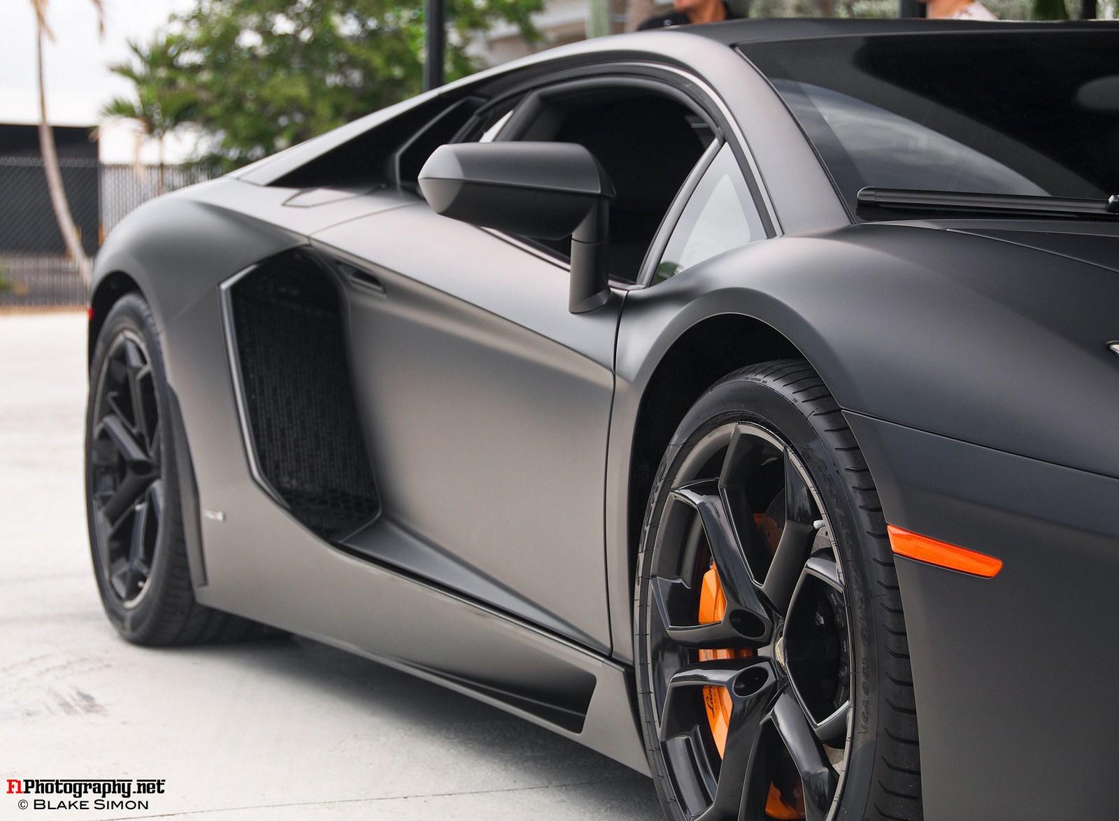 Matte Black Lamborghini Aventador Cars Pinterest