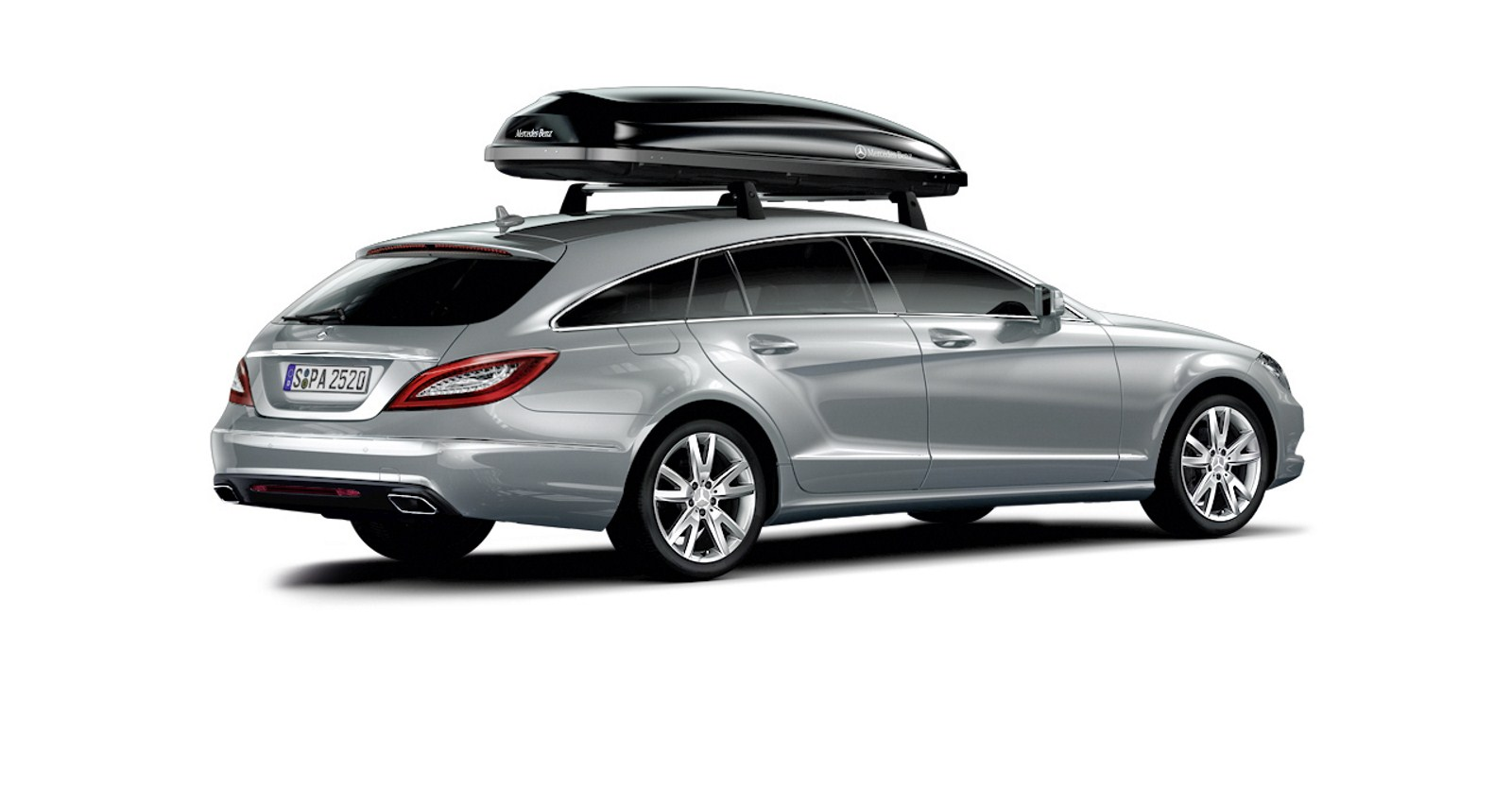 Mercedes cls shooting brake w video for Mercedes benz original accessories