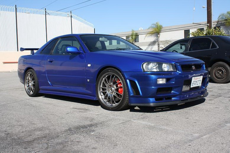 nissan skyline gt r r34 fast and furious. Black Bedroom Furniture Sets. Home Design Ideas