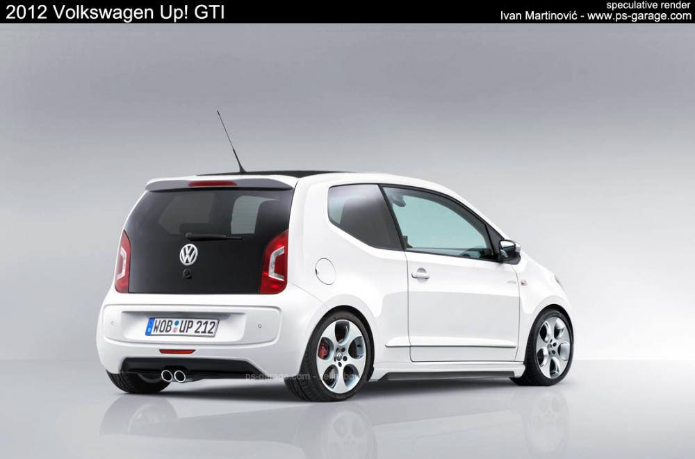 renderings vw up gti. Black Bedroom Furniture Sets. Home Design Ideas