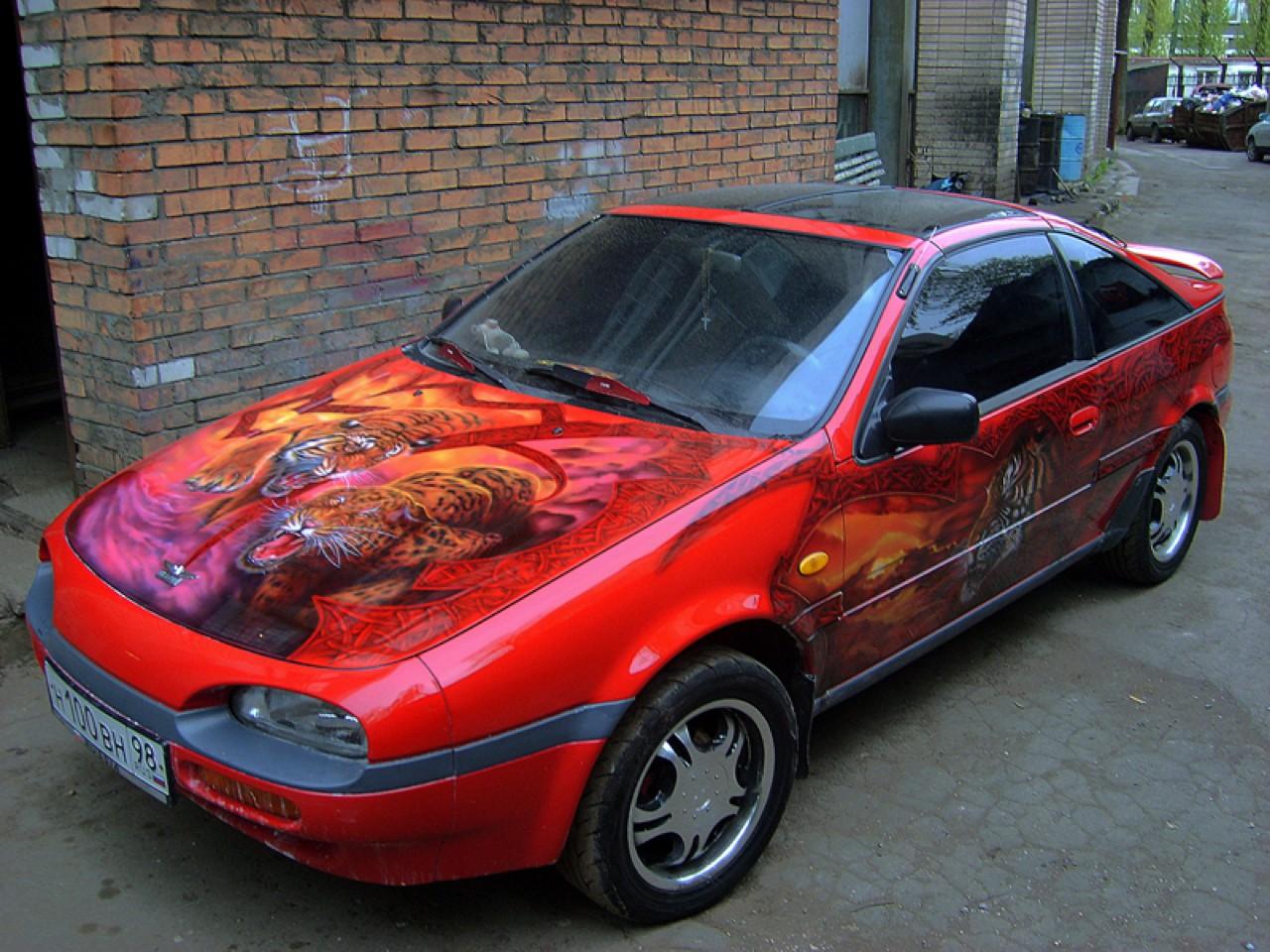 سيارات رائعة بلوحات فنية طبيعية اروع Russia-airbrush-cars-10