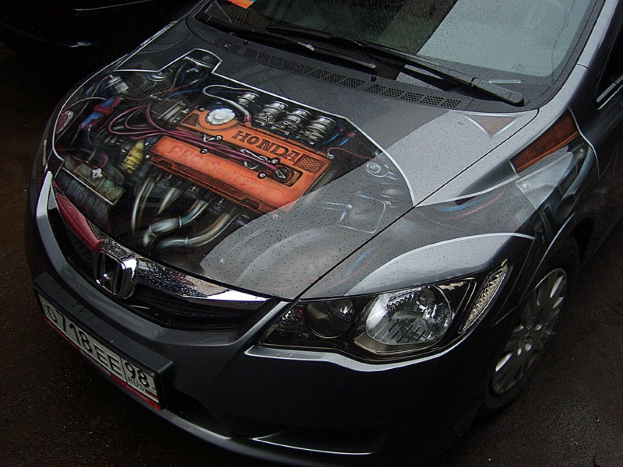 سيارات رائعة بلوحات فنية طبيعية اروع Russia-airbrush-cars-17