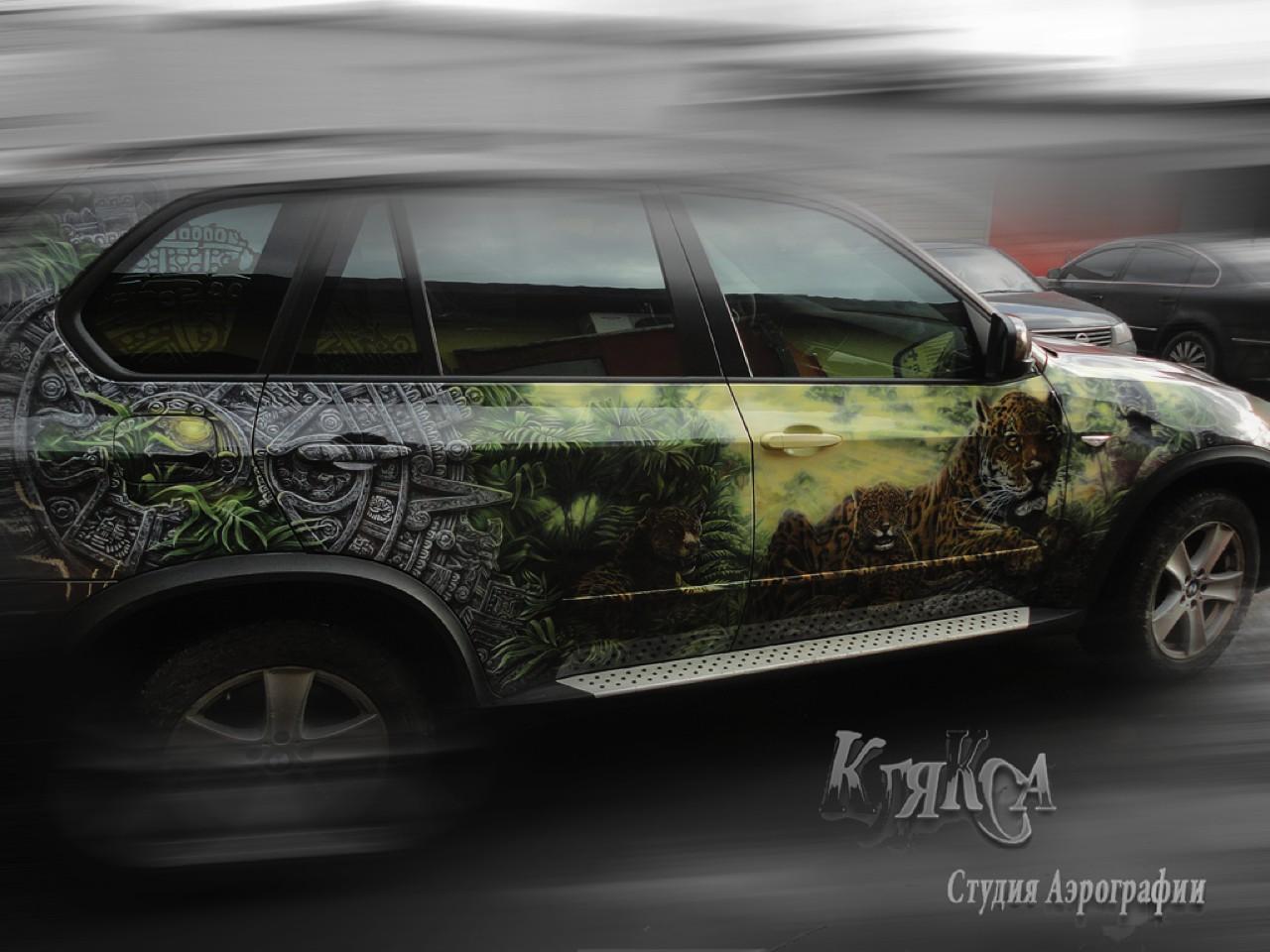 سيارات رائعة بلوحات فنية طبيعية اروع Russia-airbrush-cars-24