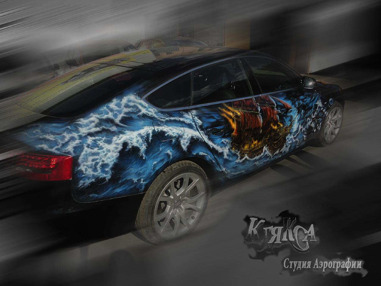 سيارات رائعة بلوحات فنية طبيعية اروع Russia-airbrush-cars-4