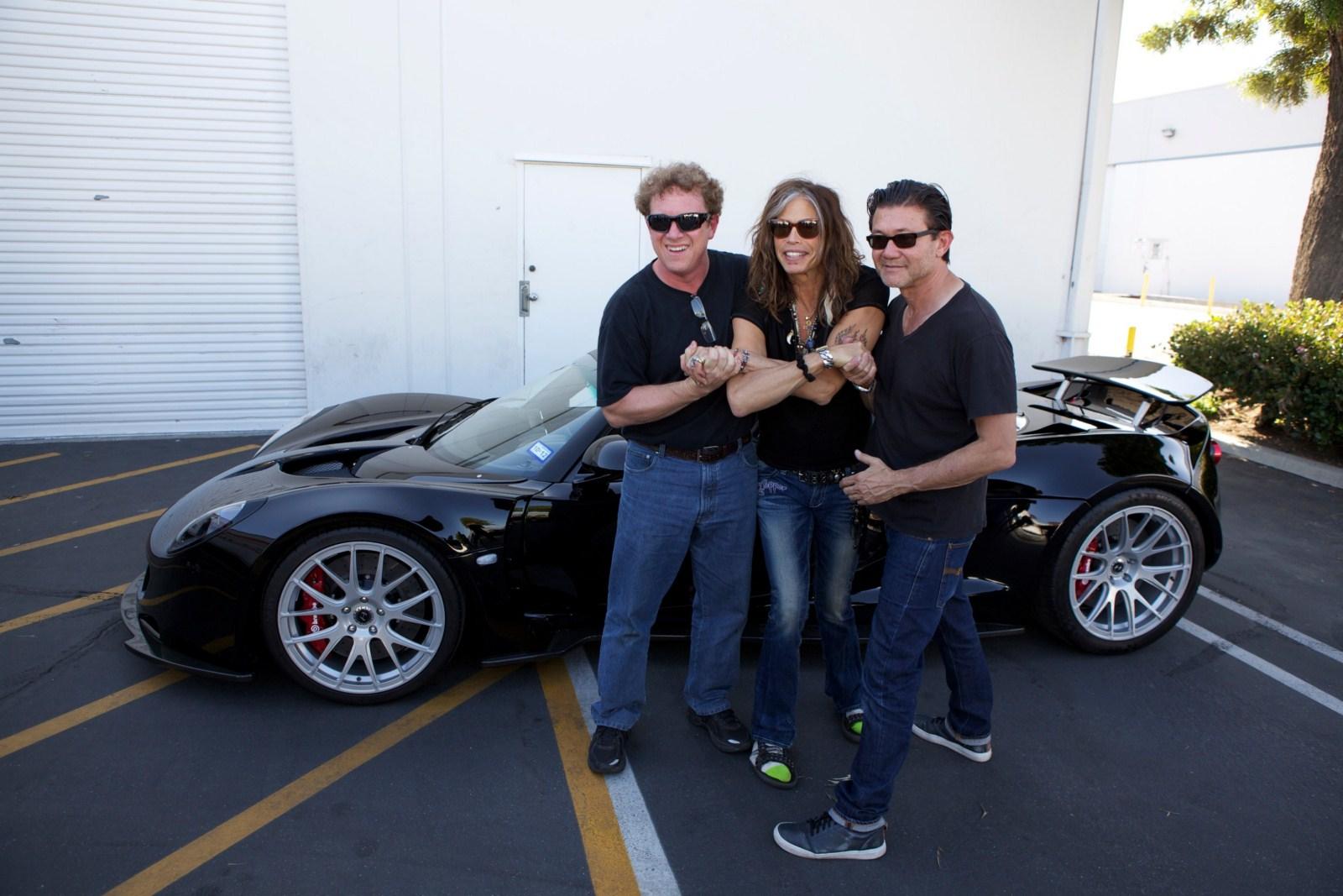 Steven Tyler Shows Hennessey Venom GT Spyder