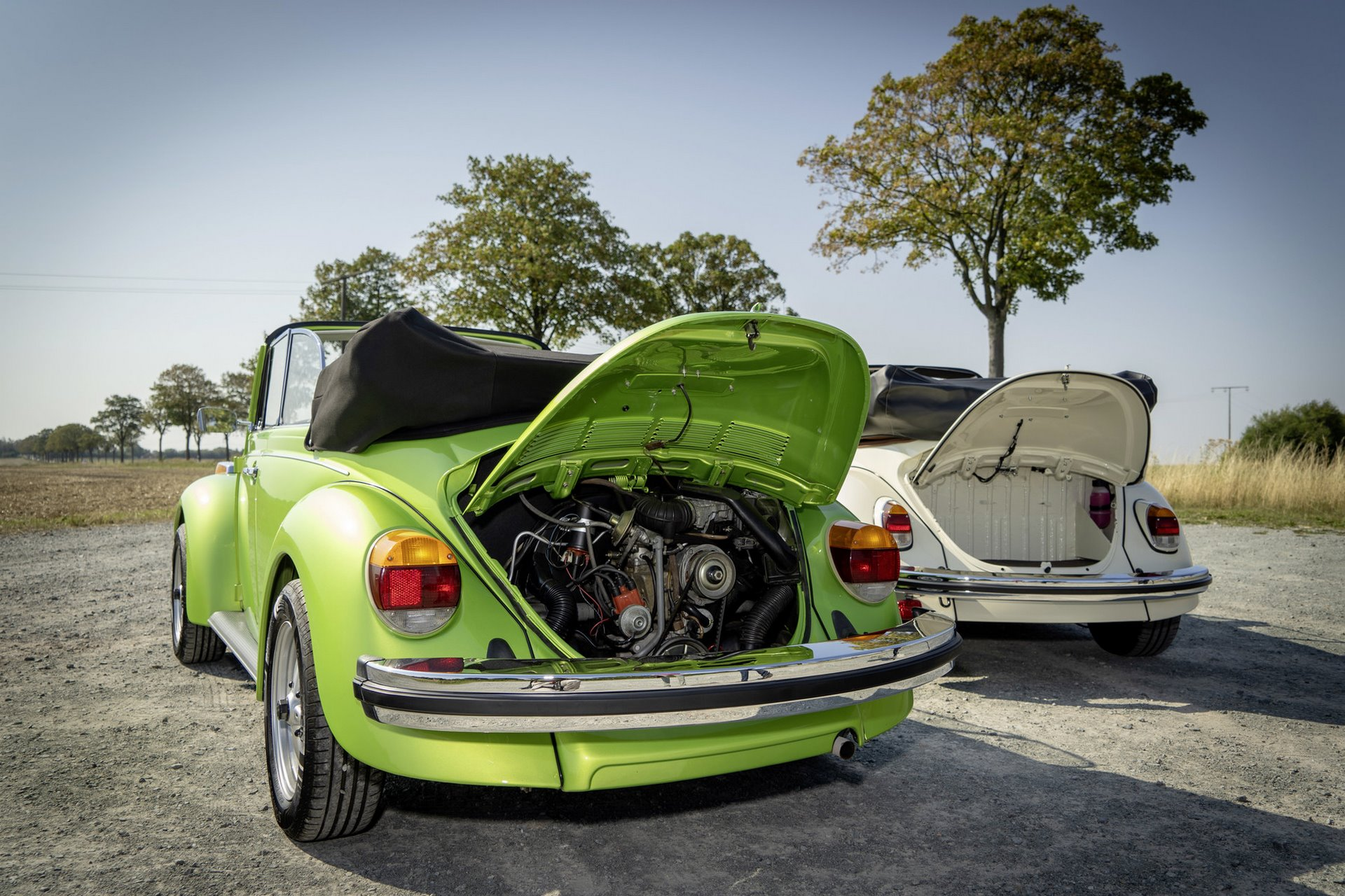 The e-Beetle is providing an additional trunk, where the classic Beetle has its boxer engine