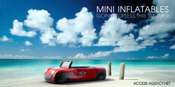 Cooper και στη παραλία, φουσκωτά στρώματα