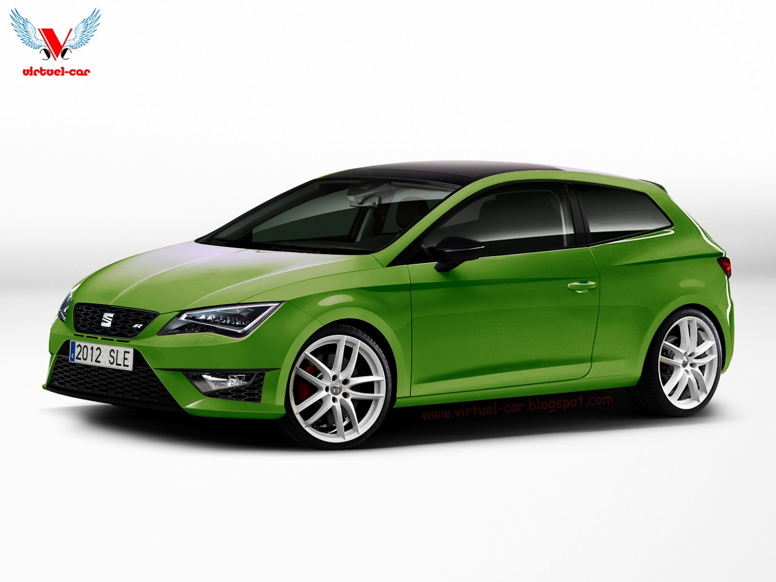 seat leon cupra r 3d 2013. Black Bedroom Furniture Sets. Home Design Ideas