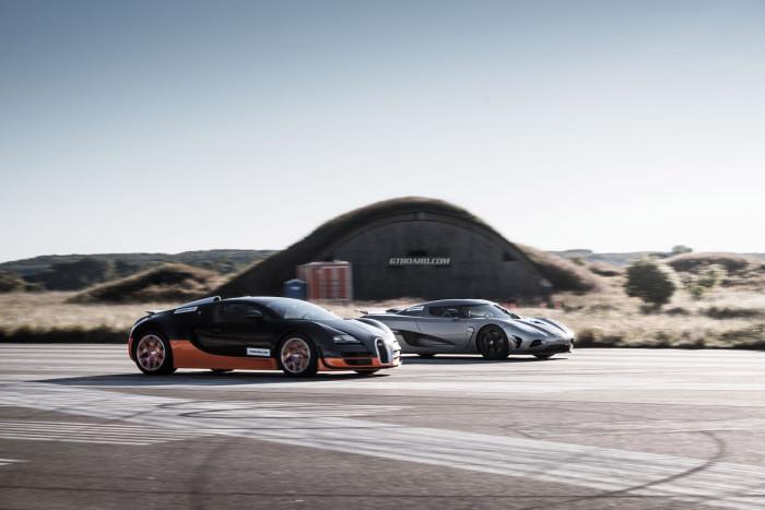 bugatti veyron vitesse vs koenigsegg agera | drive away 2day