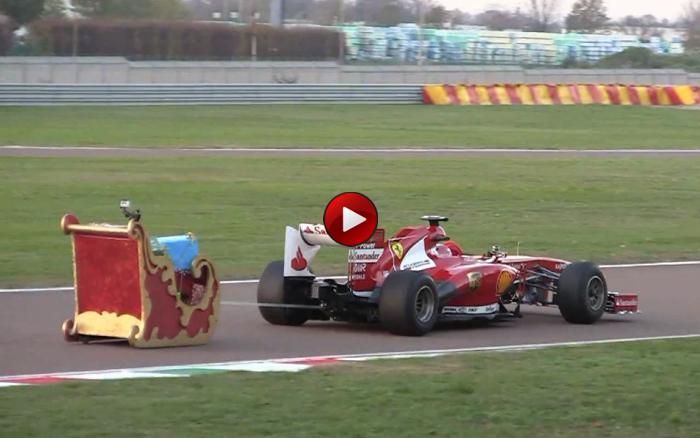 Santa Driving F1 Video: Ο Άι Βασίλης πήρε ένα μονοθέσιο Formula 1