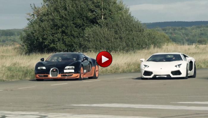 drag race bugatti veyron vitesse vs lamborghini aventador. Black Bedroom Furniture Sets. Home Design Ideas