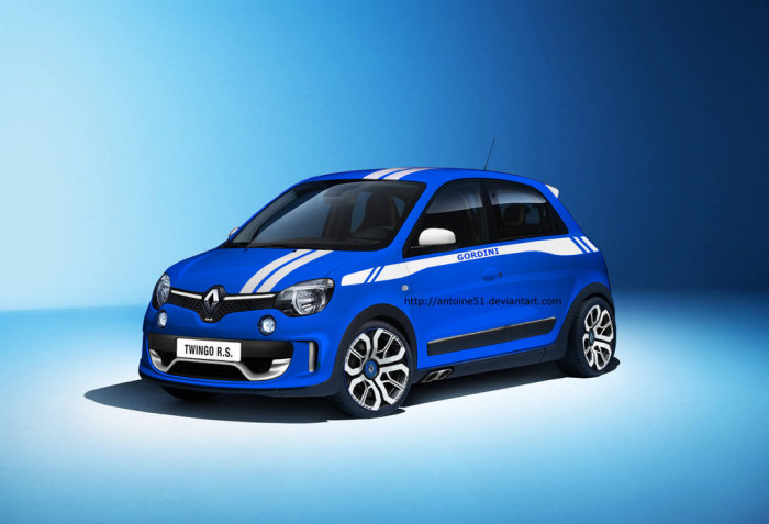 2015 renault twingo rs rendering. Black Bedroom Furniture Sets. Home Design Ideas