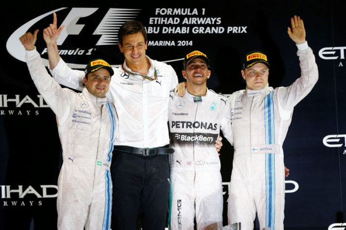 Hamilton-Massa-Bottas-Wolff