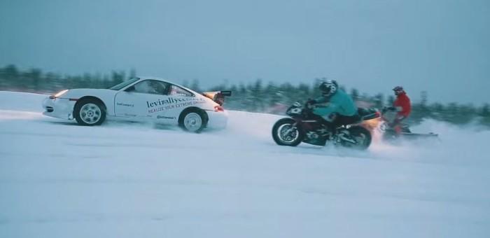 Streetbike, Rallycar and Snowmobile ON ICE
